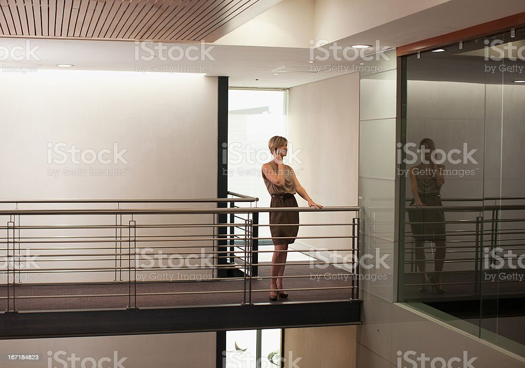 Businesswoman in modern office building royalty-free stock photo