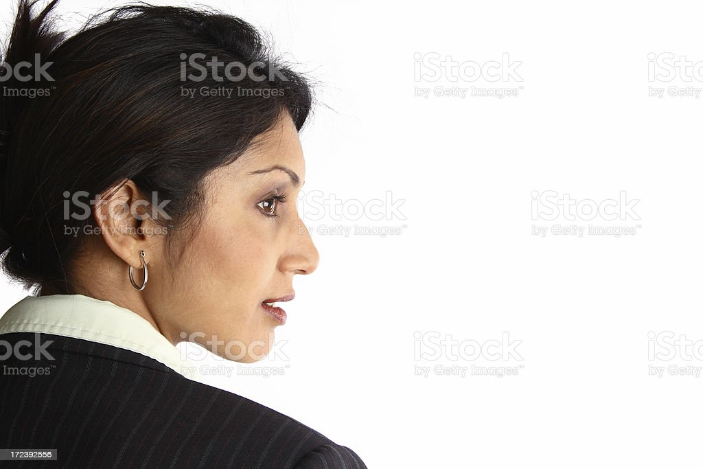 Businesswoman in Profile royalty-free stock photo