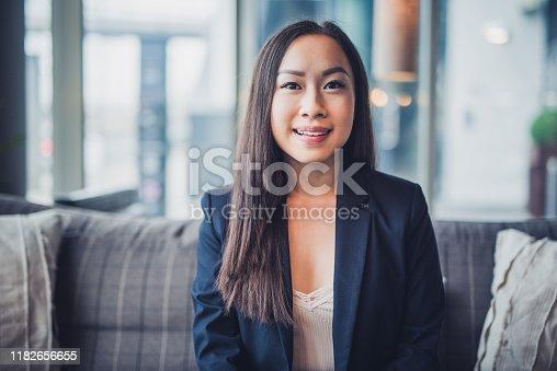 Portrait of Asian businesswoman.