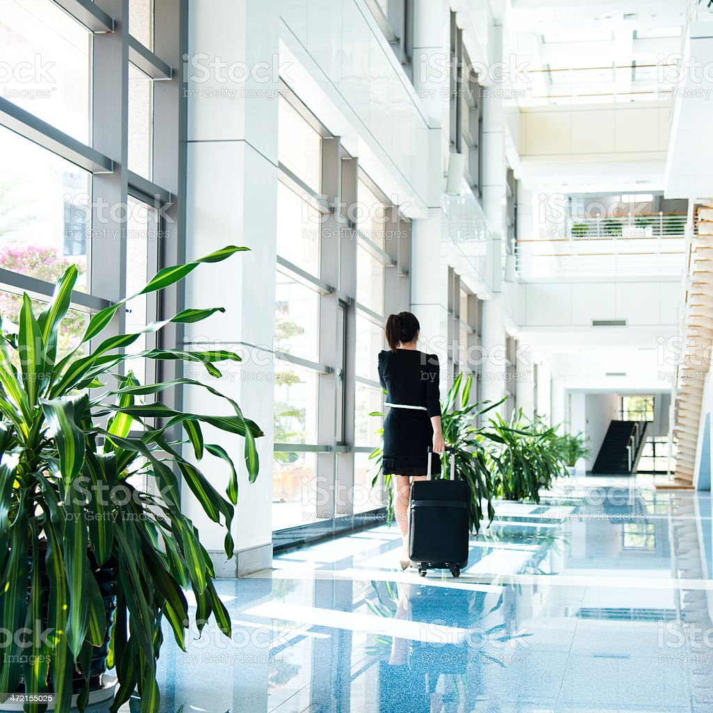 businesswoman in the airport stock photo