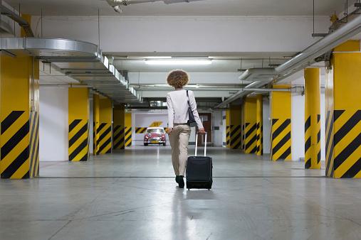 Businesswoman In Underground Garage Stock Photo - Download Image Now