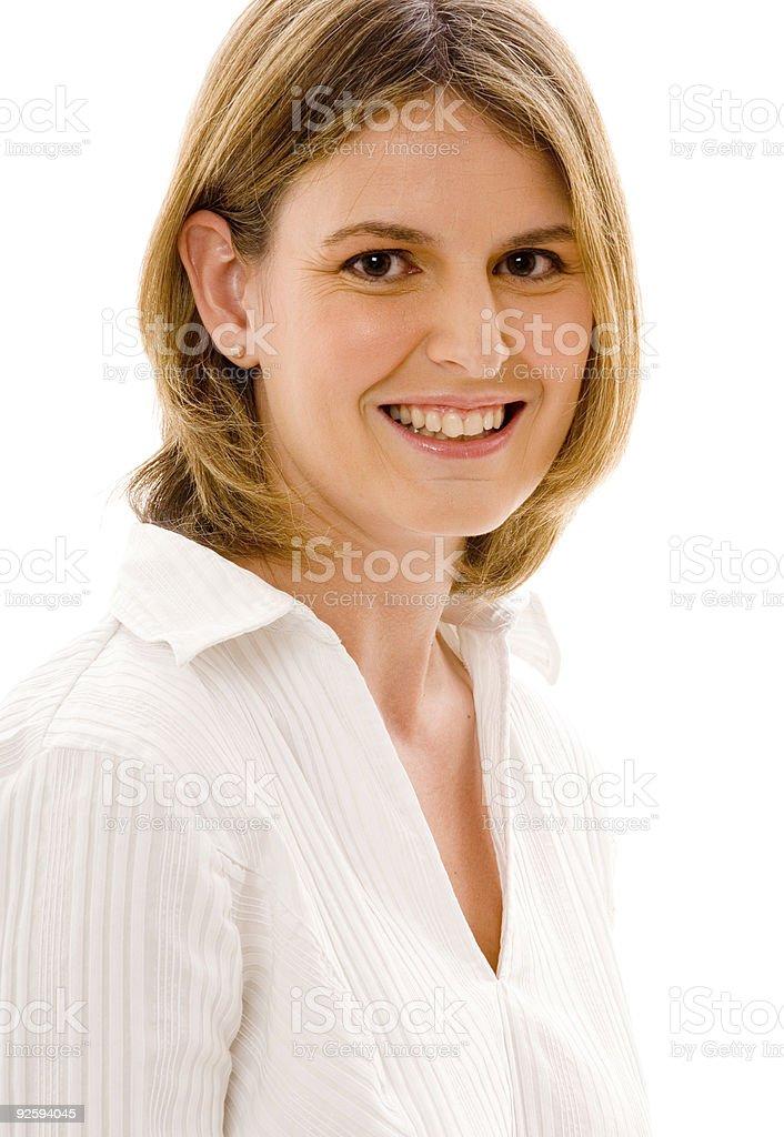 Businesswoman in White royalty-free stock photo