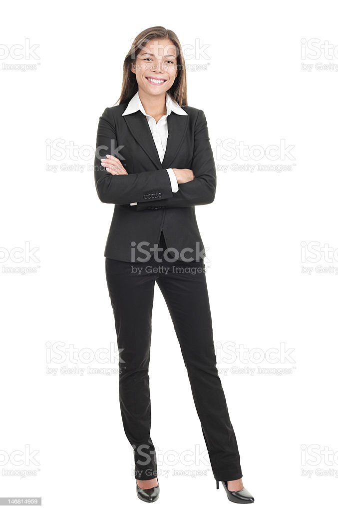 Businesswoman isolated on white background stock photo