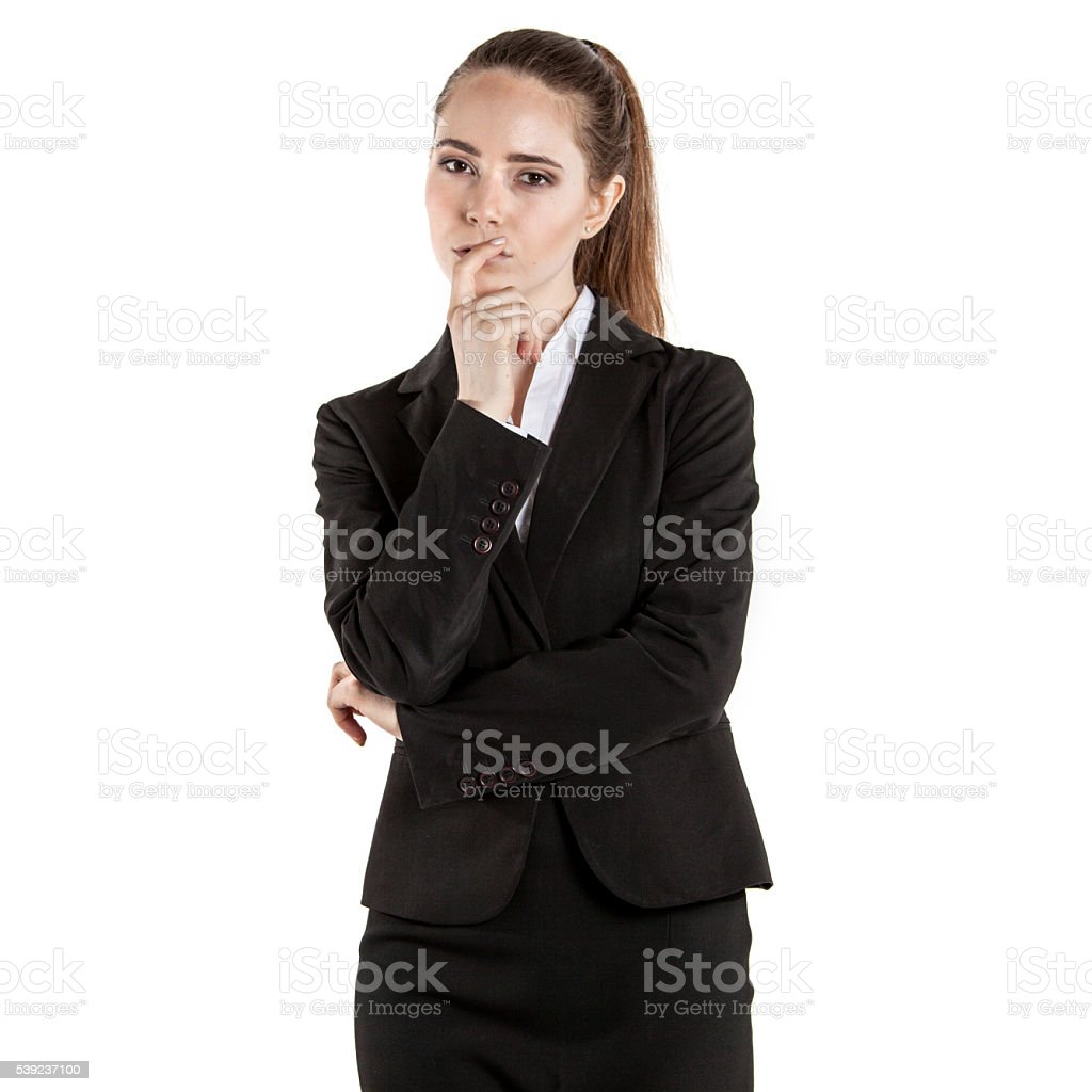 Businesswoman isolated on white royalty-free stock photo