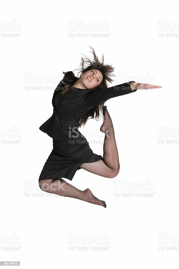 Businesswoman jump royalty-free stock photo