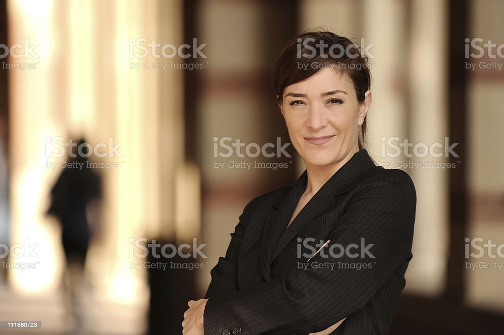 Businesswoman Lawyer With Business Legal Background royalty-free stock photo