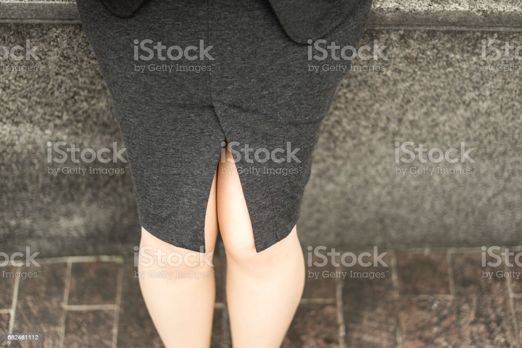 Businesswoman legs royalty-free stock photo