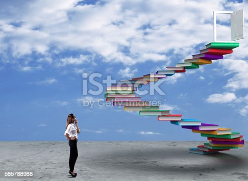 istock Businesswoman looking at opportunity 585788988