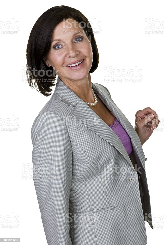 Businesswoman looking back royalty-free stock photo