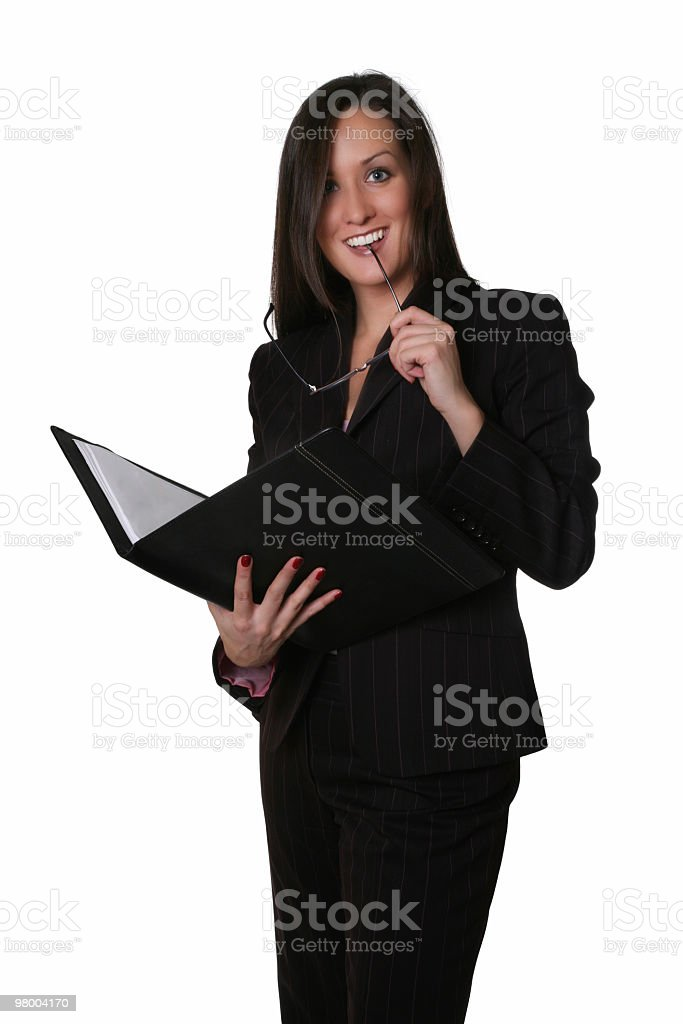 Businesswoman looks at you royalty-free stock photo