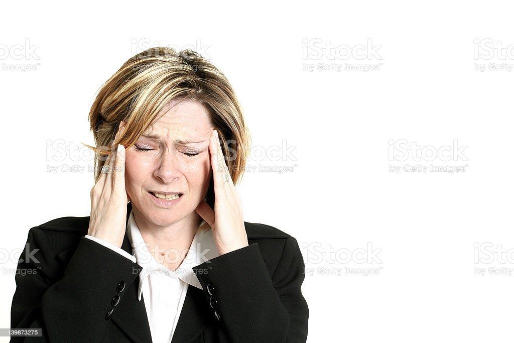 businesswoman migraine stock photo