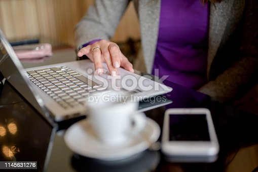 istock Businesswoman on a busy day 1145631276