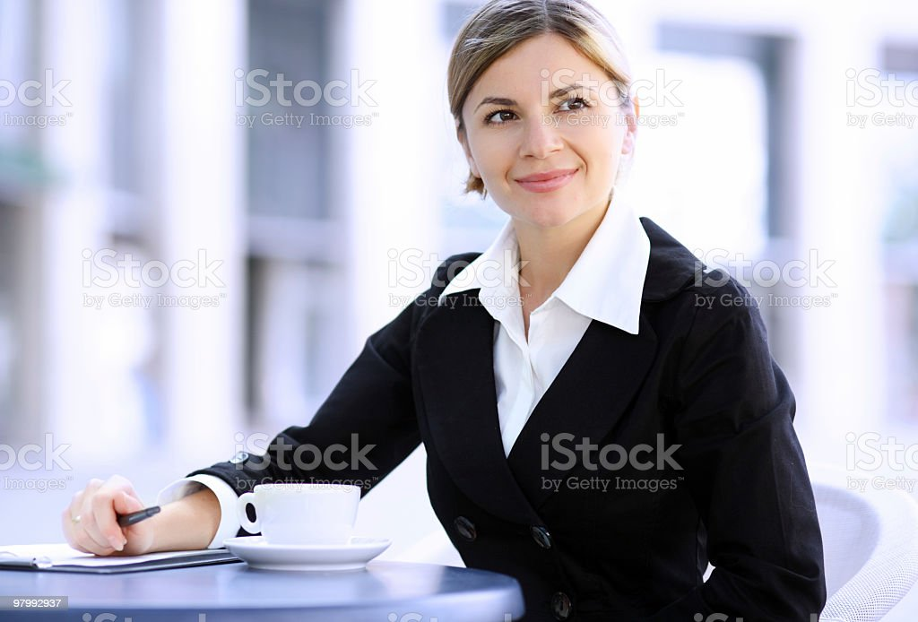 Businesswoman on coffee break. royalty-free stock photo