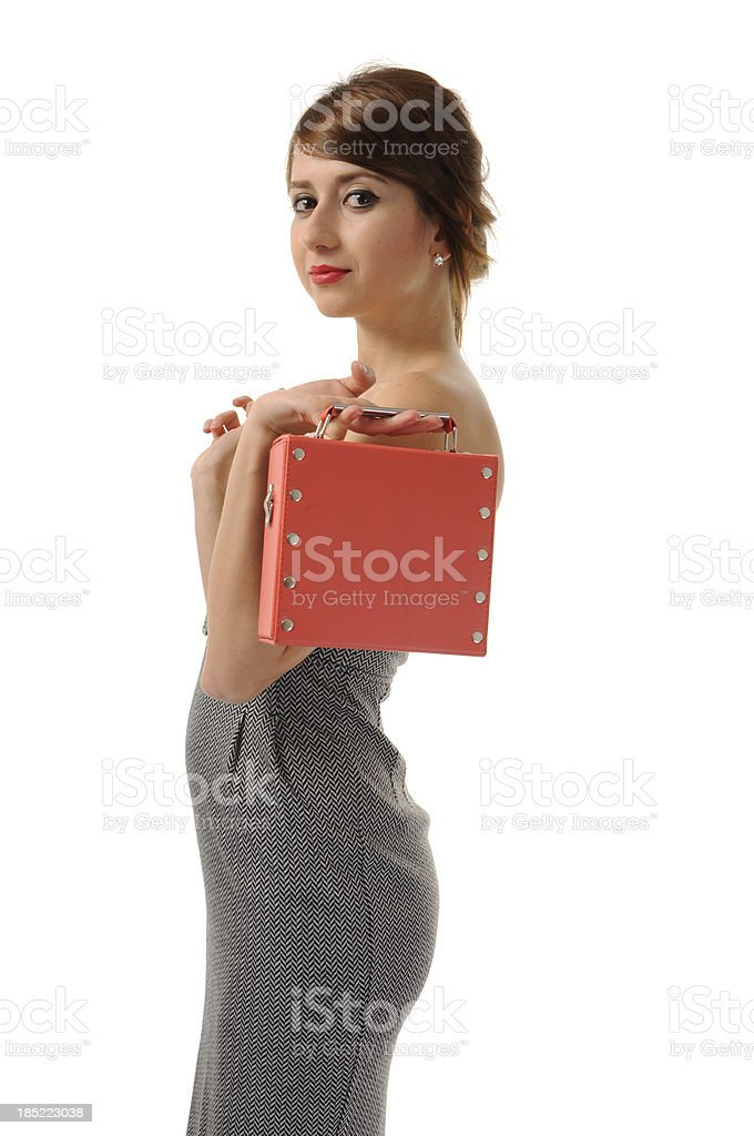 Businesswoman on lunch break royalty-free stock photo