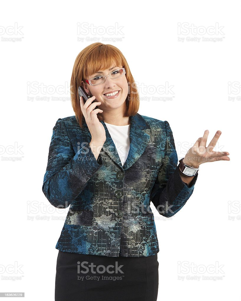 Businesswoman on phone royalty-free stock photo