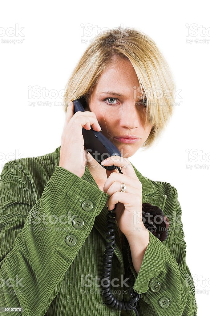 Businesswoman on phone royalty-free stock photo