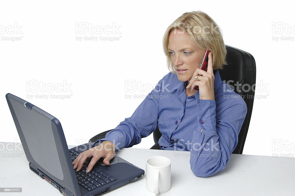 Businesswoman on the cell phone royalty-free stock photo