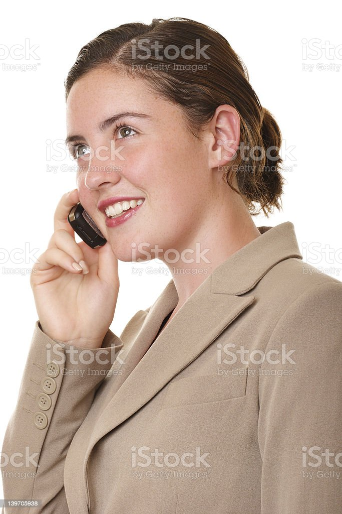 Businesswoman on the mobile phone royalty-free stock photo