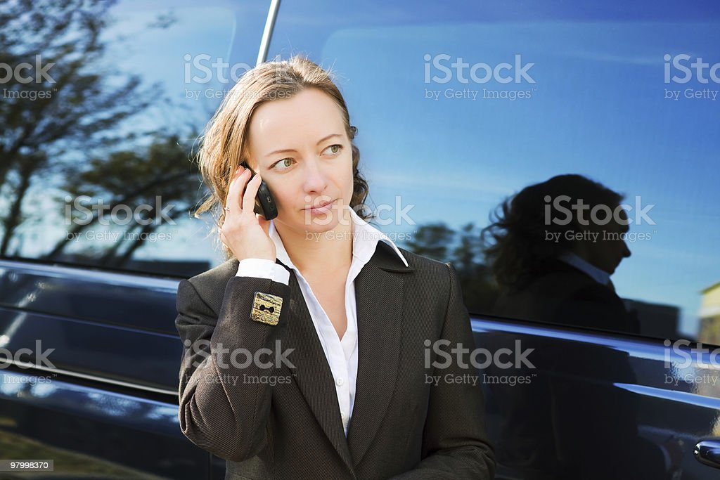 Businesswoman on the phone royalty free stockfoto