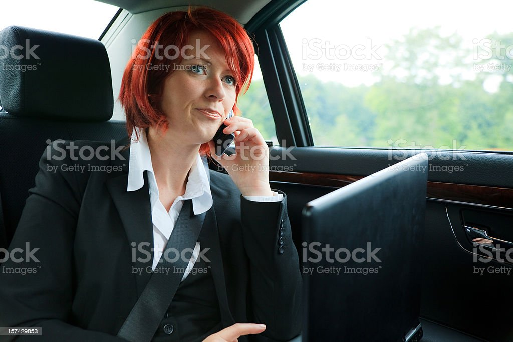 businesswoman on the road royalty-free stock photo