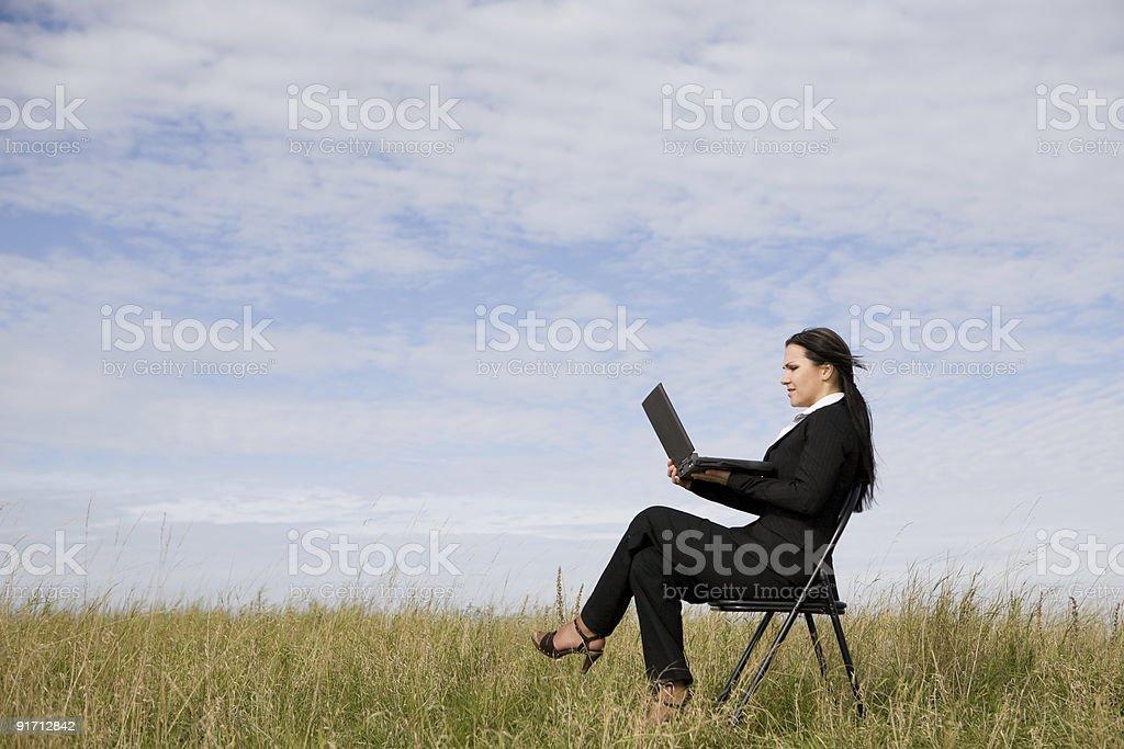 Geschäftsfrau im Freien – Foto