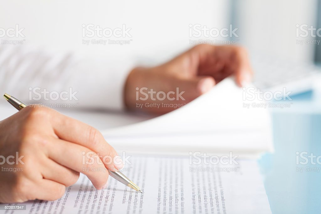 Businesswoman Paperwork stock photo