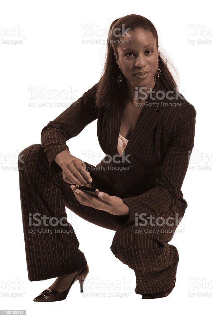 Businesswoman (sepia) royalty-free stock photo