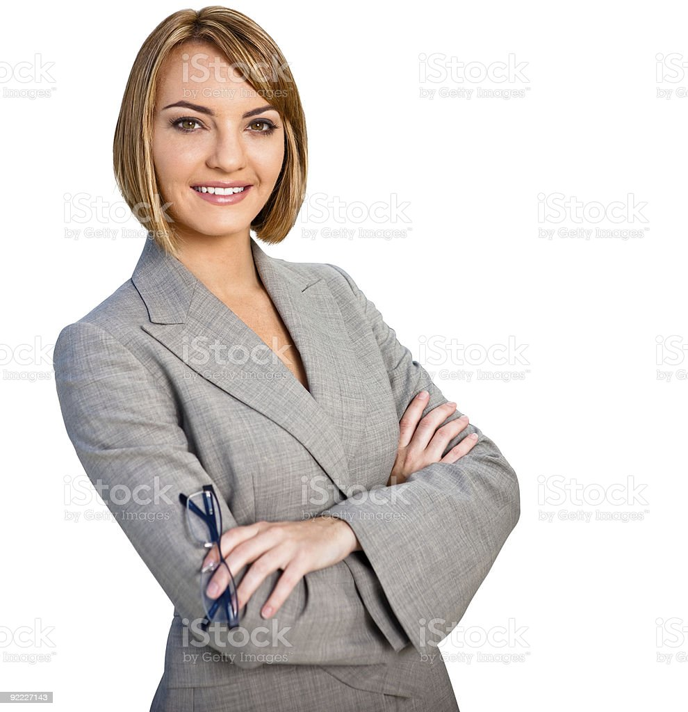 Businesswoman Portrait Isolated royalty-free stock photo