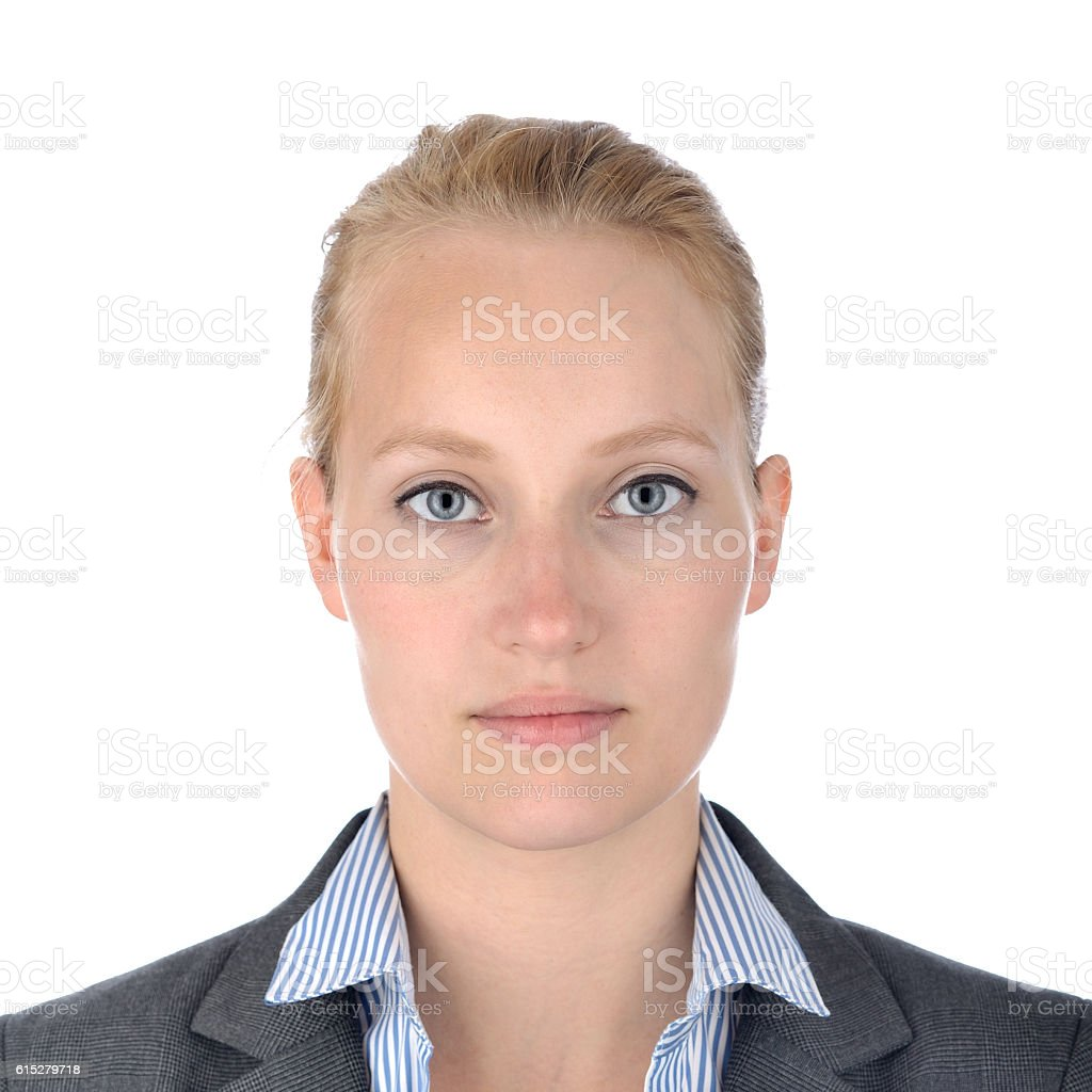Businesswoman, portrait on white. stock photo