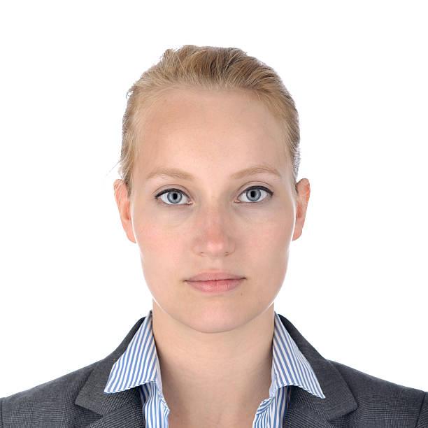 Businesswoman, portrait on white. – Foto