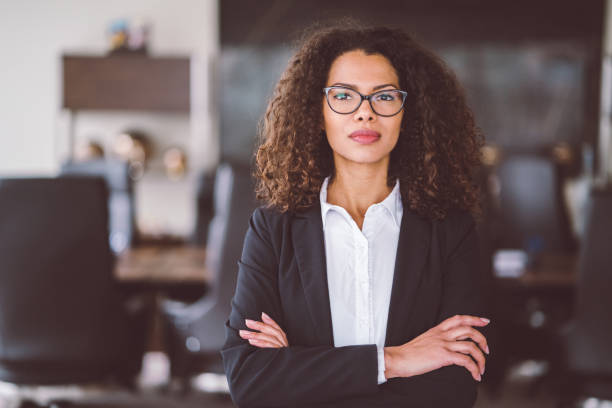 Businesswoman portrait Portrait of a young African ethnicity businesswoman 30 39 years stock pictures, royalty-free photos & images