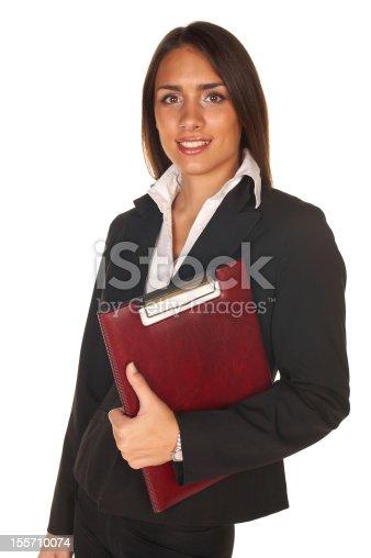 istock Businesswoman posing 155710074