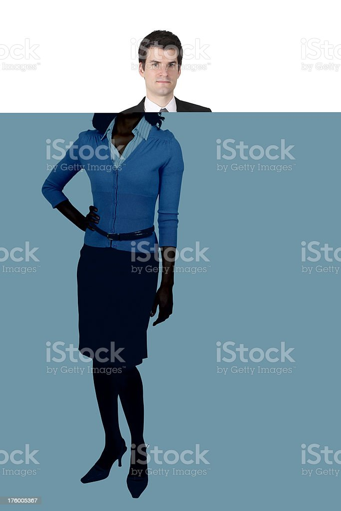 Businesswoman posing with one hand on hip royalty-free stock photo