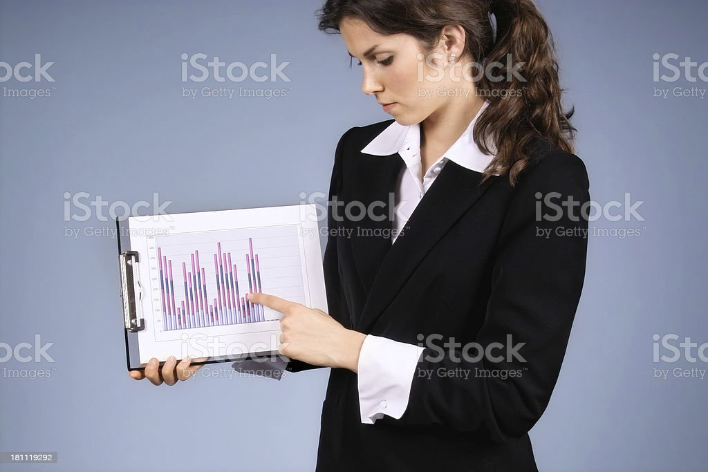 Businesswoman Presenting Data royalty-free stock photo