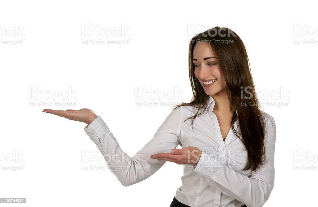businesswoman presenting royalty-free stock photo