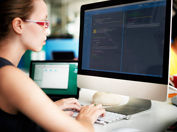 Businesswoman Programmer Working Busy Software Concept - Photo