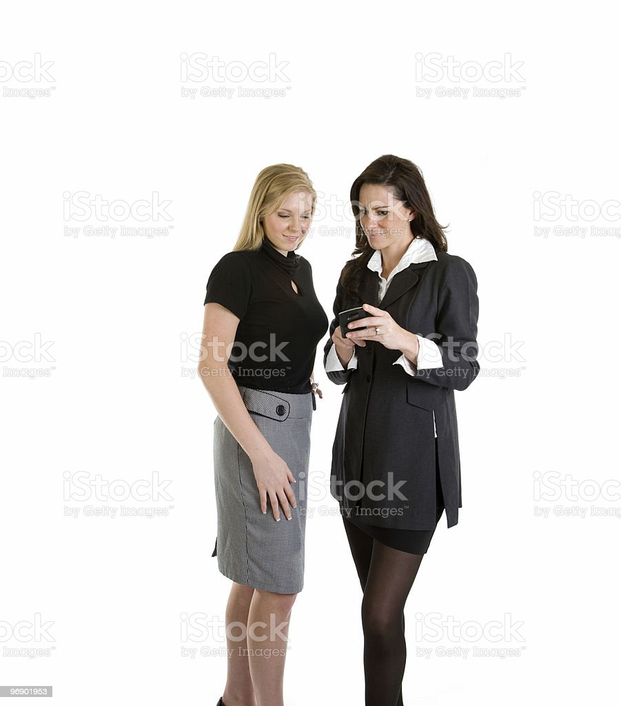 Businesswoman Reading an Email royalty-free stock photo