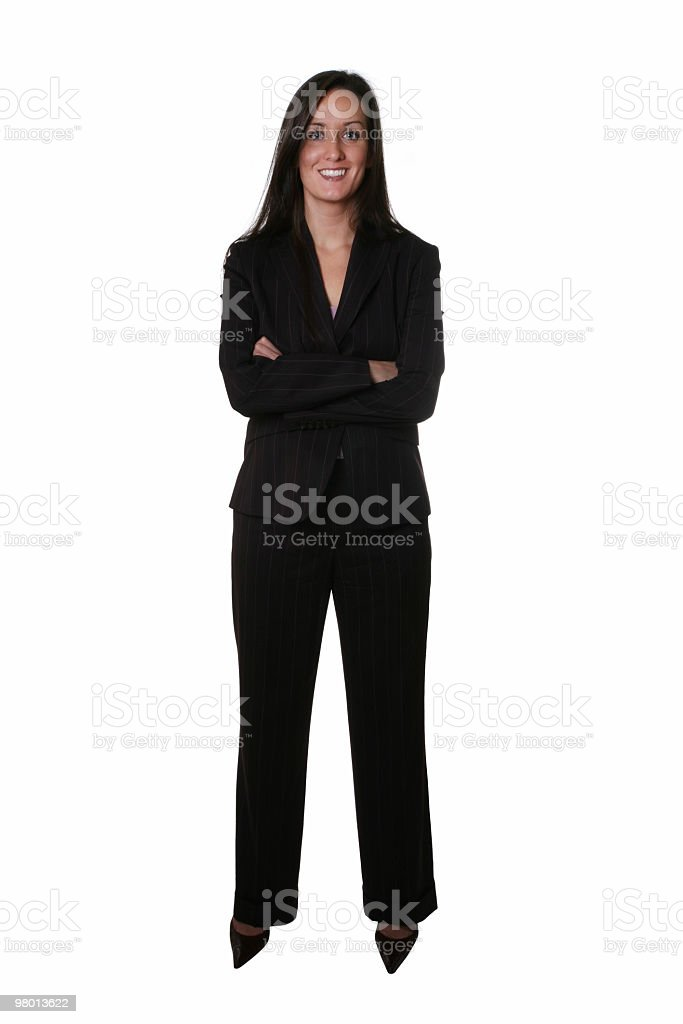 Businesswoman ready for your business royalty free stockfoto