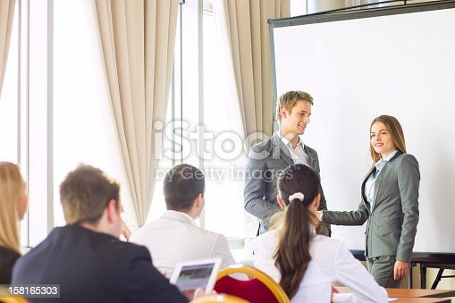 603992132 istock photo Businesswoman receiving an award. 158165303