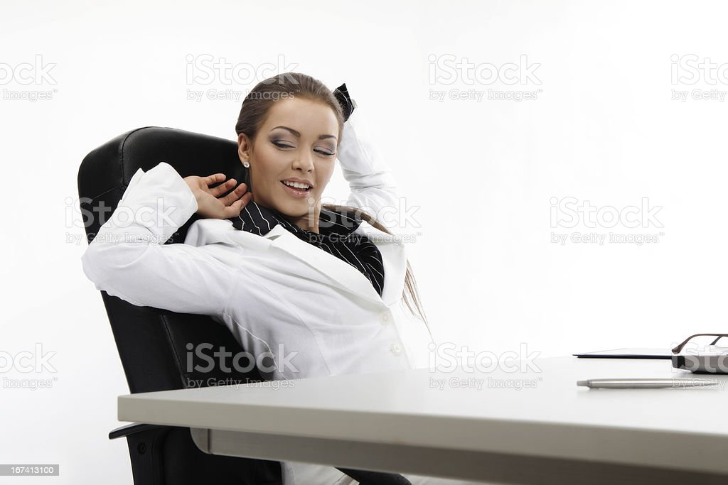 Businesswoman relaxing royalty-free stock photo