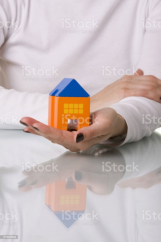 businesswoman selling a house royalty-free stock photo