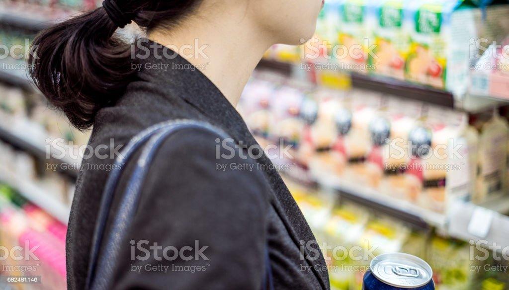 Businesswoman shopping stock photo