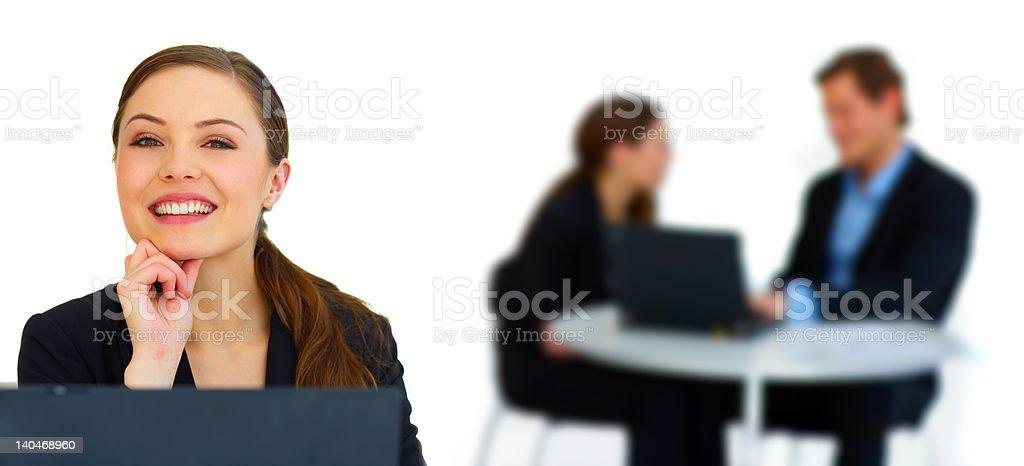 Businesswoman smiling royalty-free stock photo