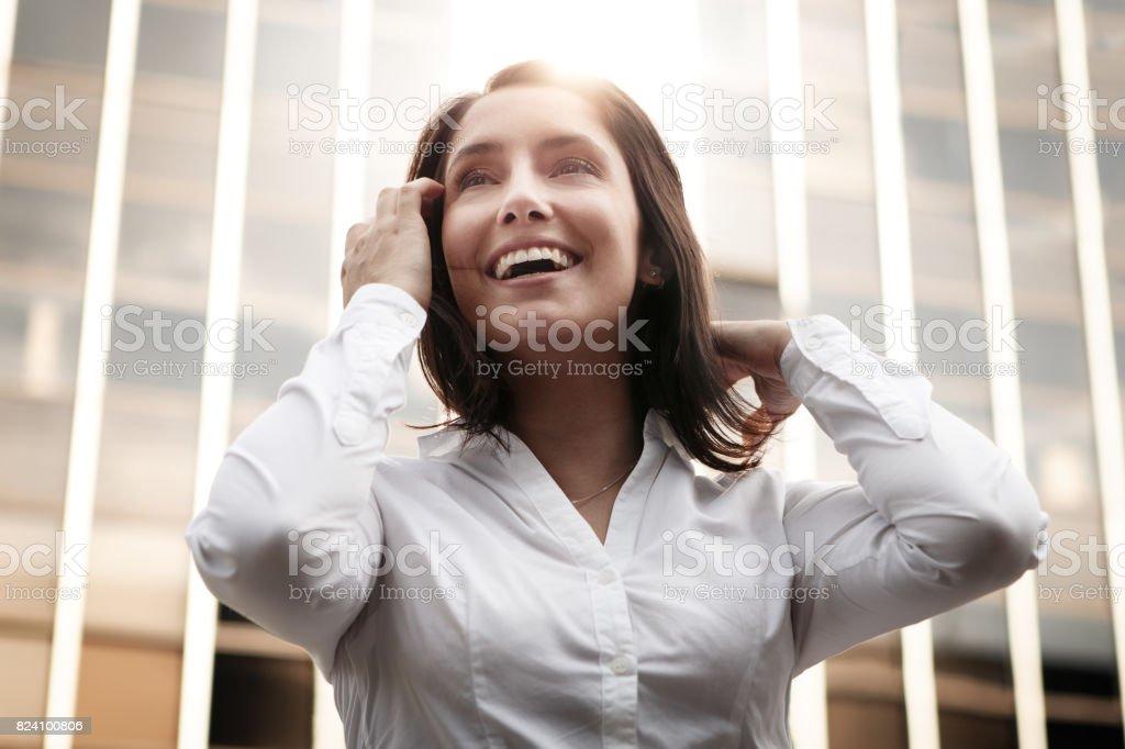 Empresária sorridente - foto de acervo