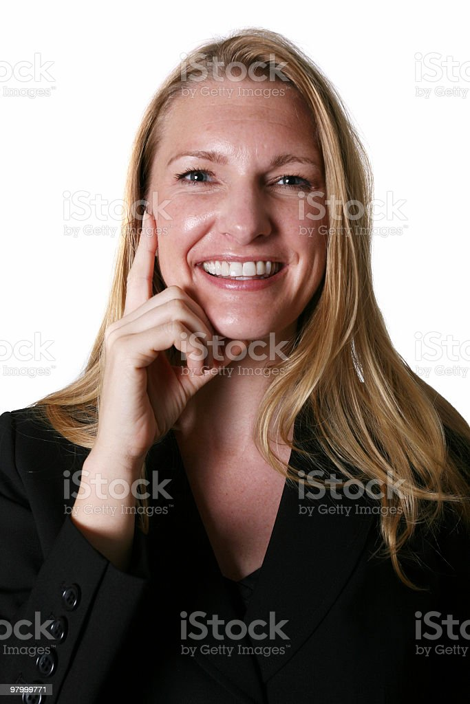 Businesswoman smiling royalty-free stock photo