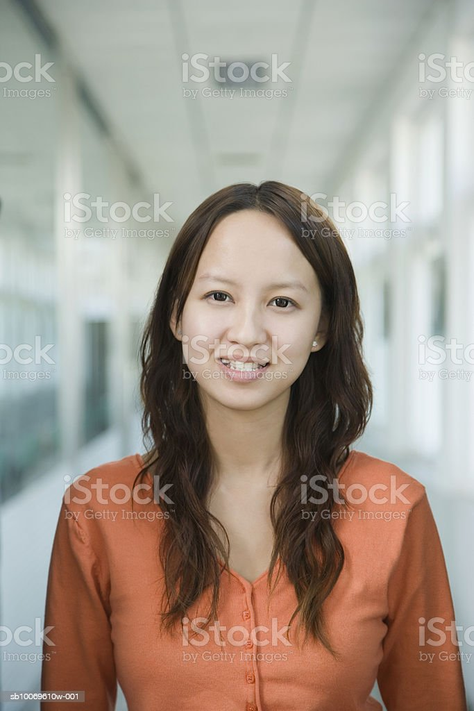 Businesswoman smiling, portrait, close-up royalty-free stock photo
