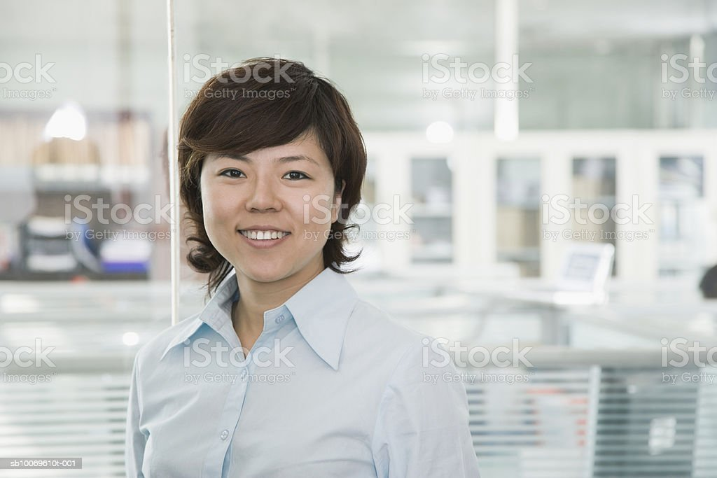 Businesswoman smiling, portrait royalty-free stock photo