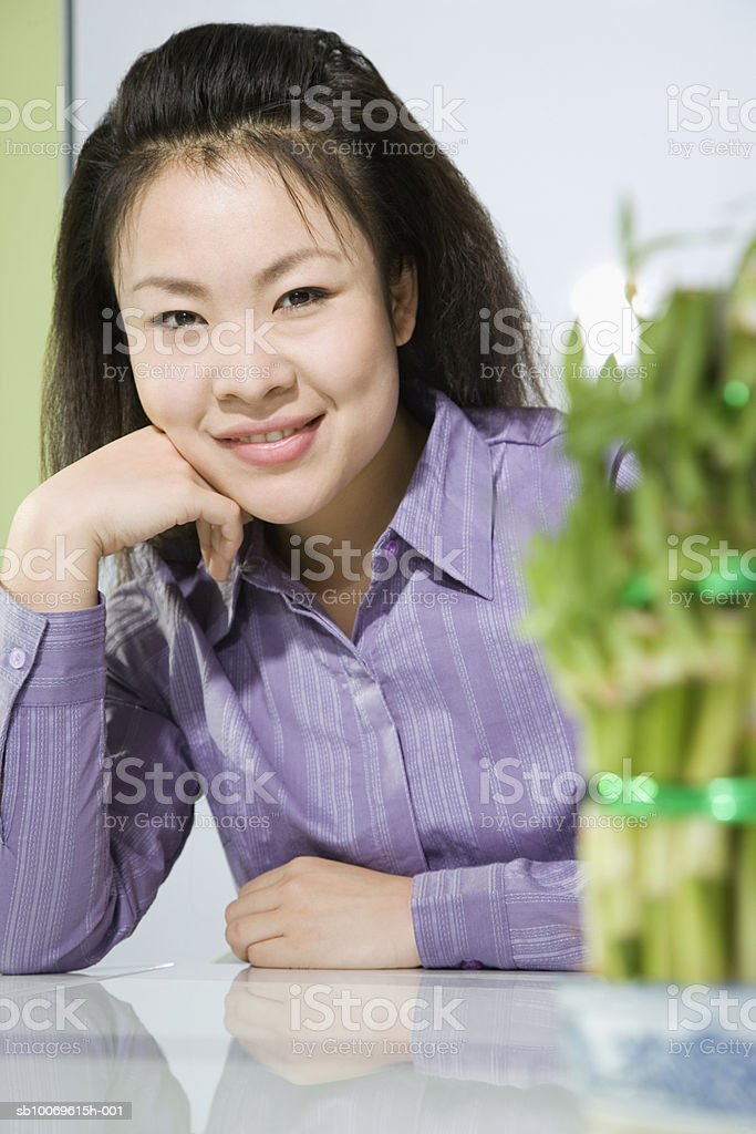 Businesswoman smiling, portrait 免版稅 stock photo