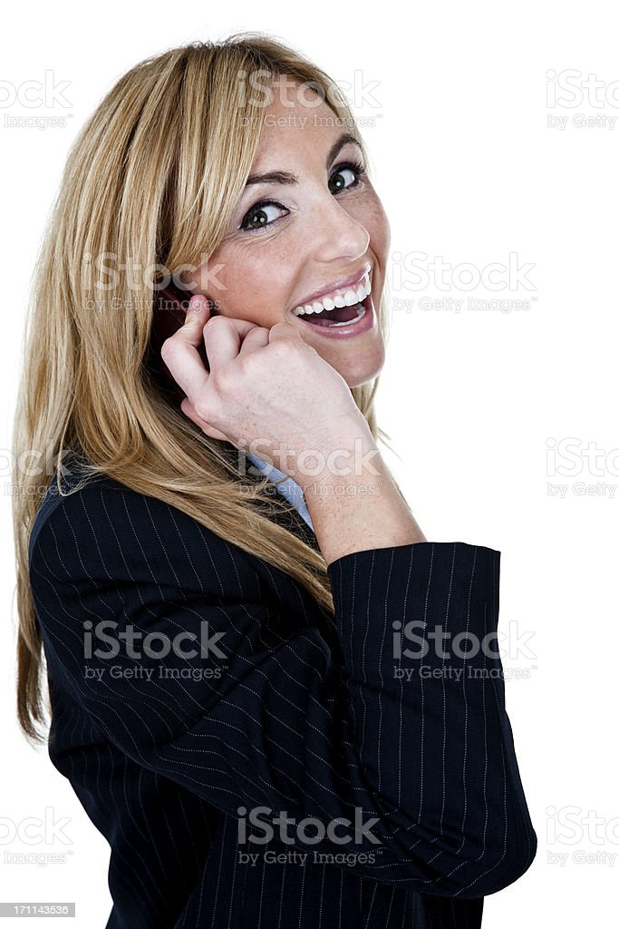 Businesswoman speaking on the phone royalty-free stock photo