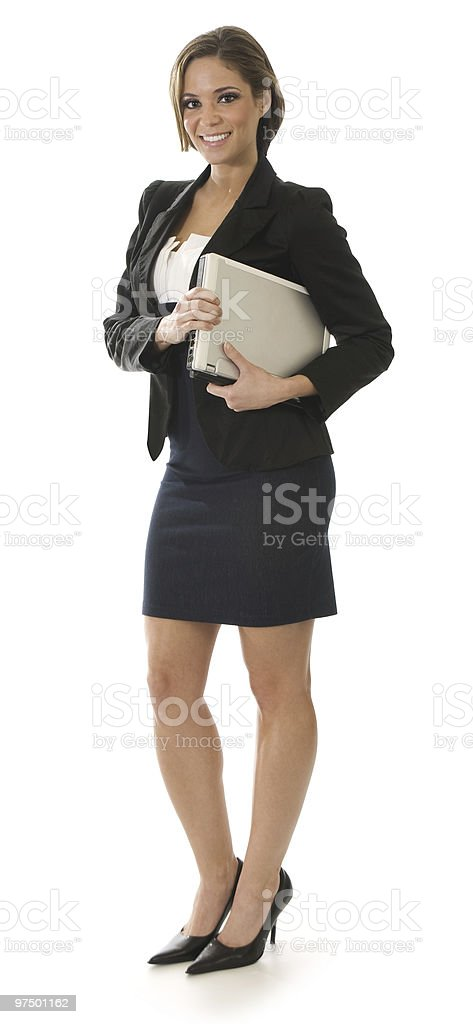 Businesswoman Standing on White royalty-free stock photo